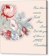 Fabric Floral Canvas Print