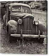 Fabulous Vintage Car Black And White Canvas Print