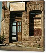 Facade American Pool Hall Coca-cola Sign Ghost Town Jerome Arizona Canvas Print