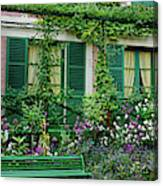 Facade Of Claude Monets House, Giverny Canvas Print