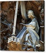 Facade Of Sagrada Familia Canvas Print