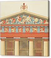 Facade Of The Temple Of Jupiter Canvas Print