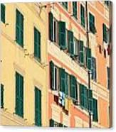facades in Camogli Canvas Print