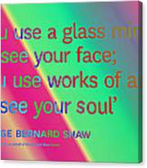 Face And Soul Definitions Canvas Print