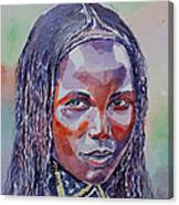 Face From Sudan  1 Canvas Print