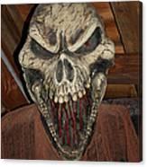 Face Of Death Canvas Print