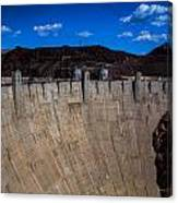 Face Of The Dam Canvas Print