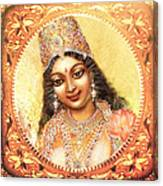 Face Of The Goddess - Lalitha Devi  Canvas Print