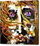 Face Series 4 Knowing Canvas Print