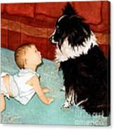 Face-to-nose Canvas Print