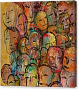 Faces In The Crowd Canvas Print