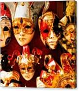 Faces Of Carnavale Canvas Print