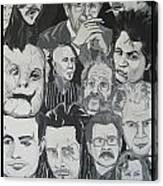 faces of Gary Oldman Canvas Print