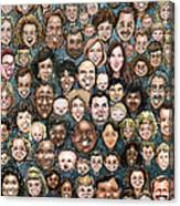Faces Of Humanity Canvas Print