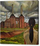 Facing Storm Canvas Print