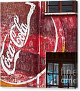 Faded Coca Cola Mural 1 Canvas Print