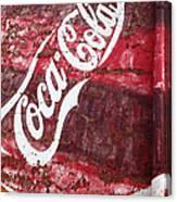 Faded Coca Cola Mural 2 Canvas Print