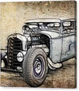Faded Ford Coupe Canvas Print