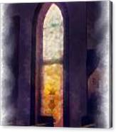Faded Purple Stained Glass Window Photo Art Canvas Print