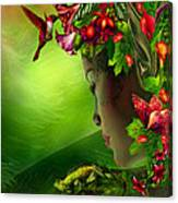 Fae In The Flower Hat Canvas Print