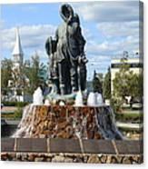 Fairbanks Statue Canvas Print