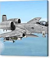 Fairchild A-10 Thunderbolt Canvas Print