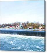 Fairmount Dam And Boathouse Row In Philadelphia Canvas Print