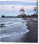 Fairport Harbor Breakwater Lighthouse Canvas Print