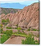 Fairy Chimneys In The Making In Cappadocia-turkey Canvas Print
