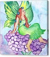 Fairy On Lilac Canvas Print