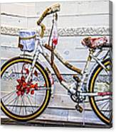 Fairy Tale Bike Flying Machine Canvas Print