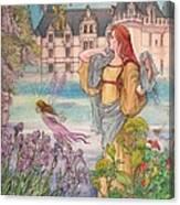 Fairytale Nocturne Castle Canvas Print