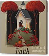Faith Country Church Canvas Print