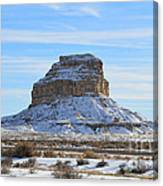 Fajada Butte In Snow Canvas Print