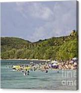 Fajardo Beach In  Puerto Rico Canvas Print