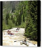 White Water Rafting On The Animas Canvas Print