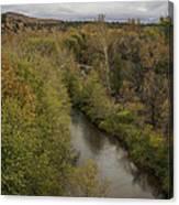 Fall Along The Creek Canvas Print