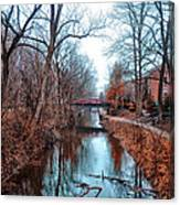 Fall Along The Delaware Canal Canvas Print