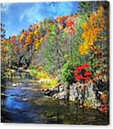Fall Along The Linville River Canvas Print