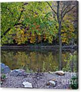 Fall Along The Scioto River Canvas Print