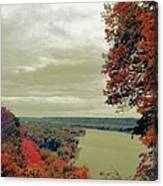 Fall And The Mississippi Canvas Print