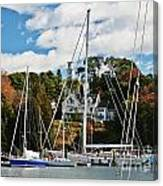 Fall And The Sailboats Canvas Print