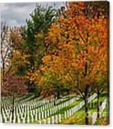 Fall Arlington National Cemetery  Canvas Print