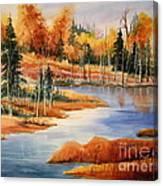 Fall At Elk Island  Canvas Print