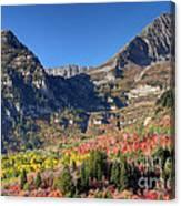 Fall At Mt. Timpanogos From Sundance - Utah  Canvas Print