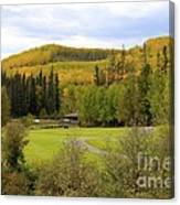 Fall At The Course Canvas Print