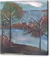 Fall At The Lake Canvas Print