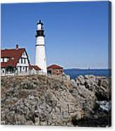 Fall At The Lighthouse Canvas Print