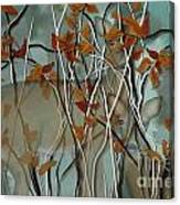 Fall Branches With Deer Canvas Print