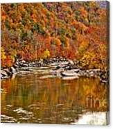 Fall Brilliance At New River Canvas Print